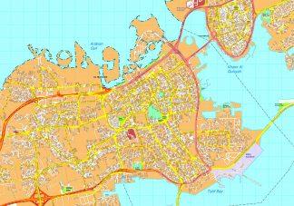 Al Manama map