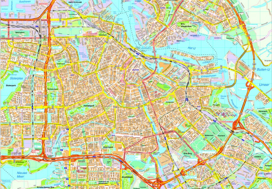 Amsterdam map