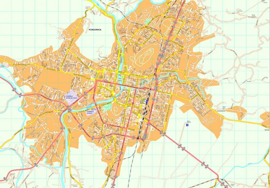 Podgorica map