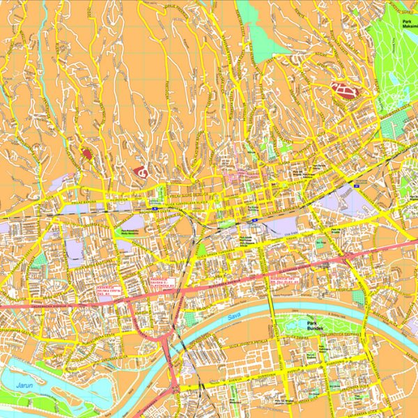 Zagreb map