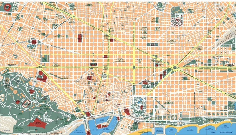 barcelona vector map