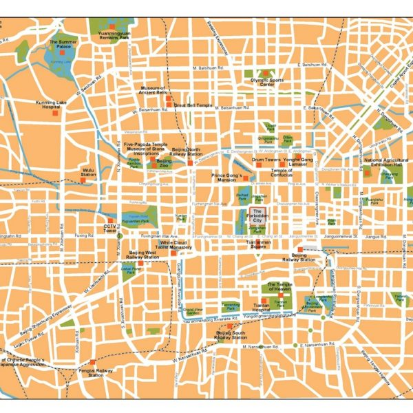 beijing vector map