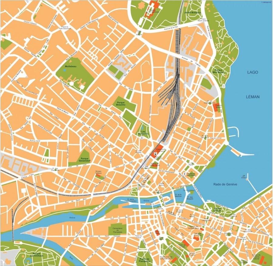 geneve vector map