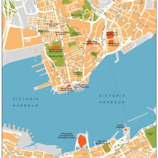 hong kong vector map