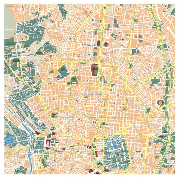 madrid vector map