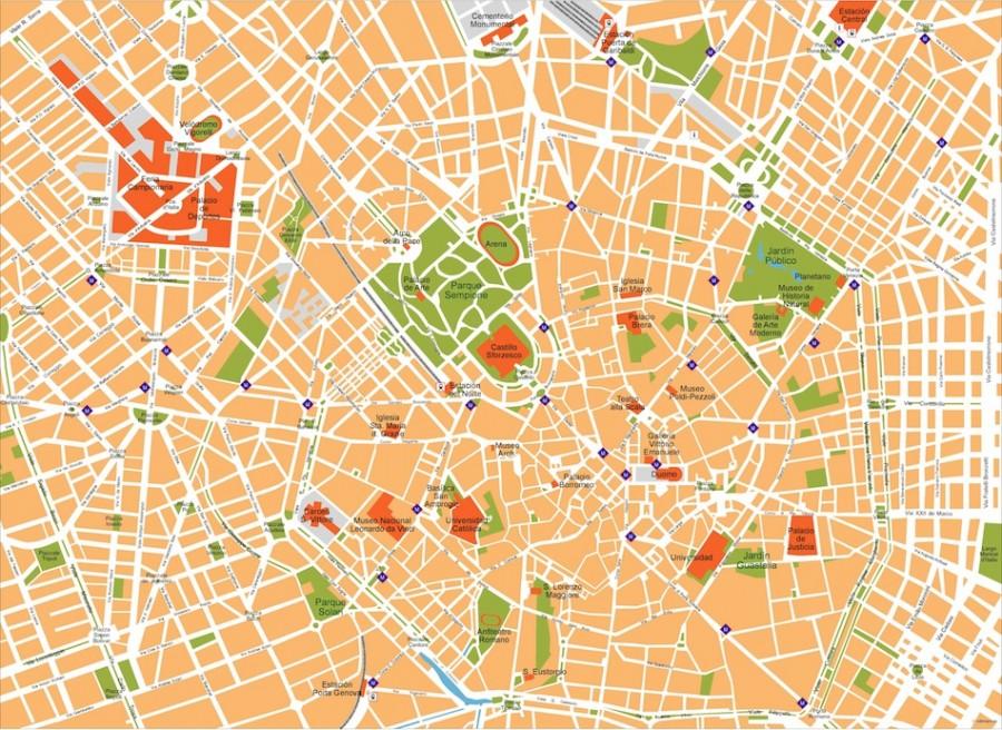 milan vector map
