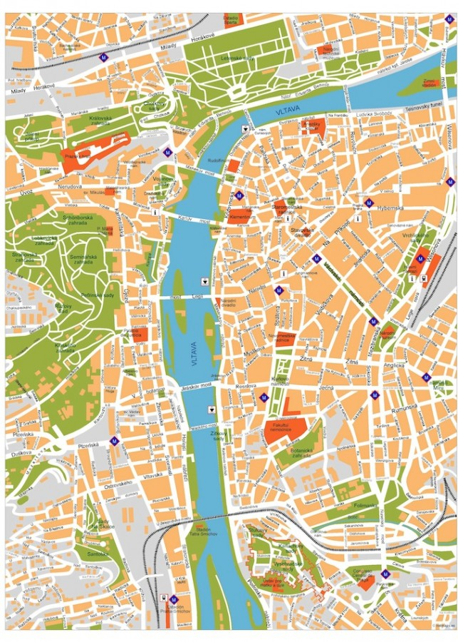 prague vector map