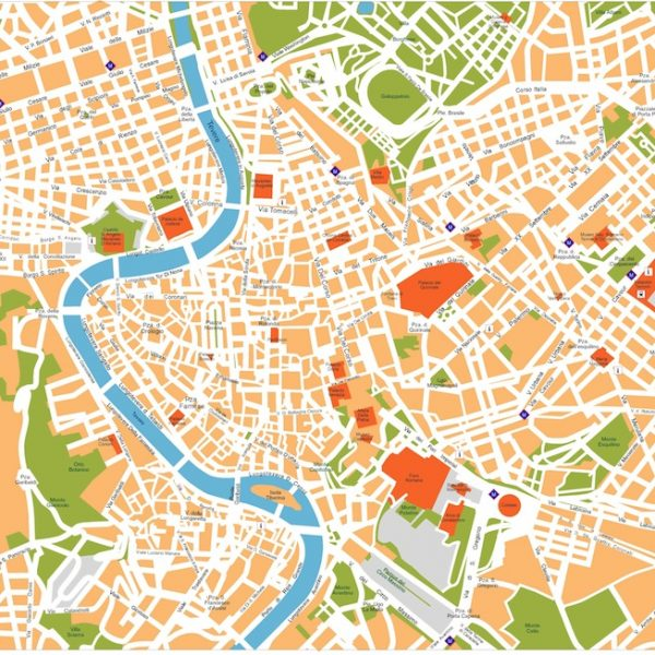rome vector map