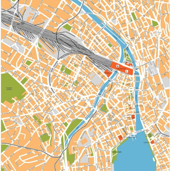 zurich vector map
