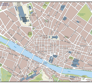 Florence downtown map