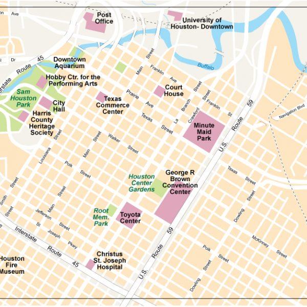 Houston City Center map