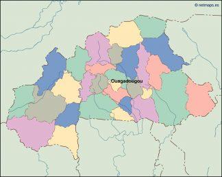 burkina faso vector map