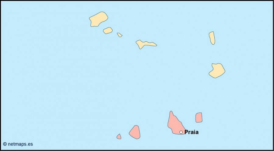 cape verde vector map