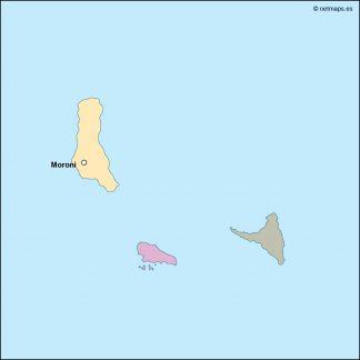 comoros vector map