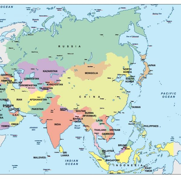 asia presentation map