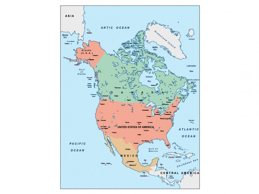 north america presentation map